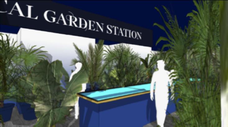 画像:植物園をイメージしたラウンジスペースのイメージカット